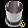 Sammenleggbar kopp/glass i stål