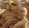 Sand: Par på stranden