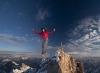 Balansering på toppen av fjellet
